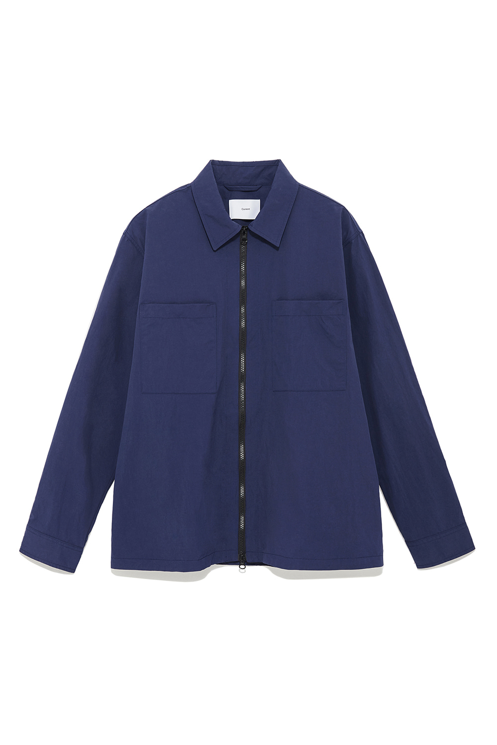 Zip Up Shirts Men [Blue]