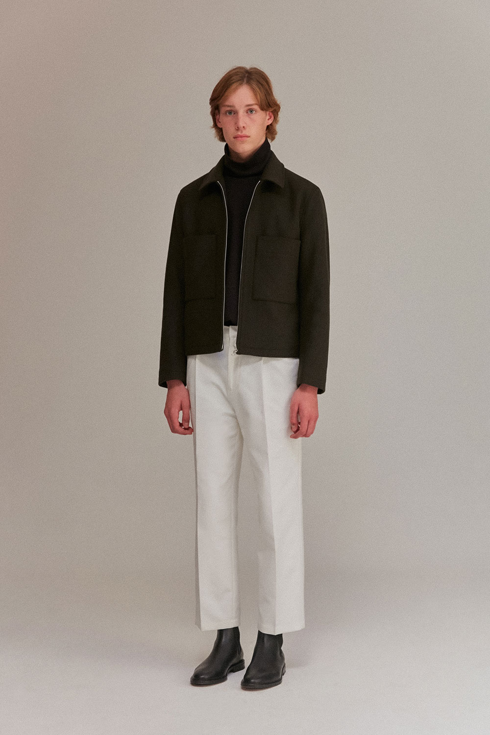 Wool Jacket Men [Khaki]