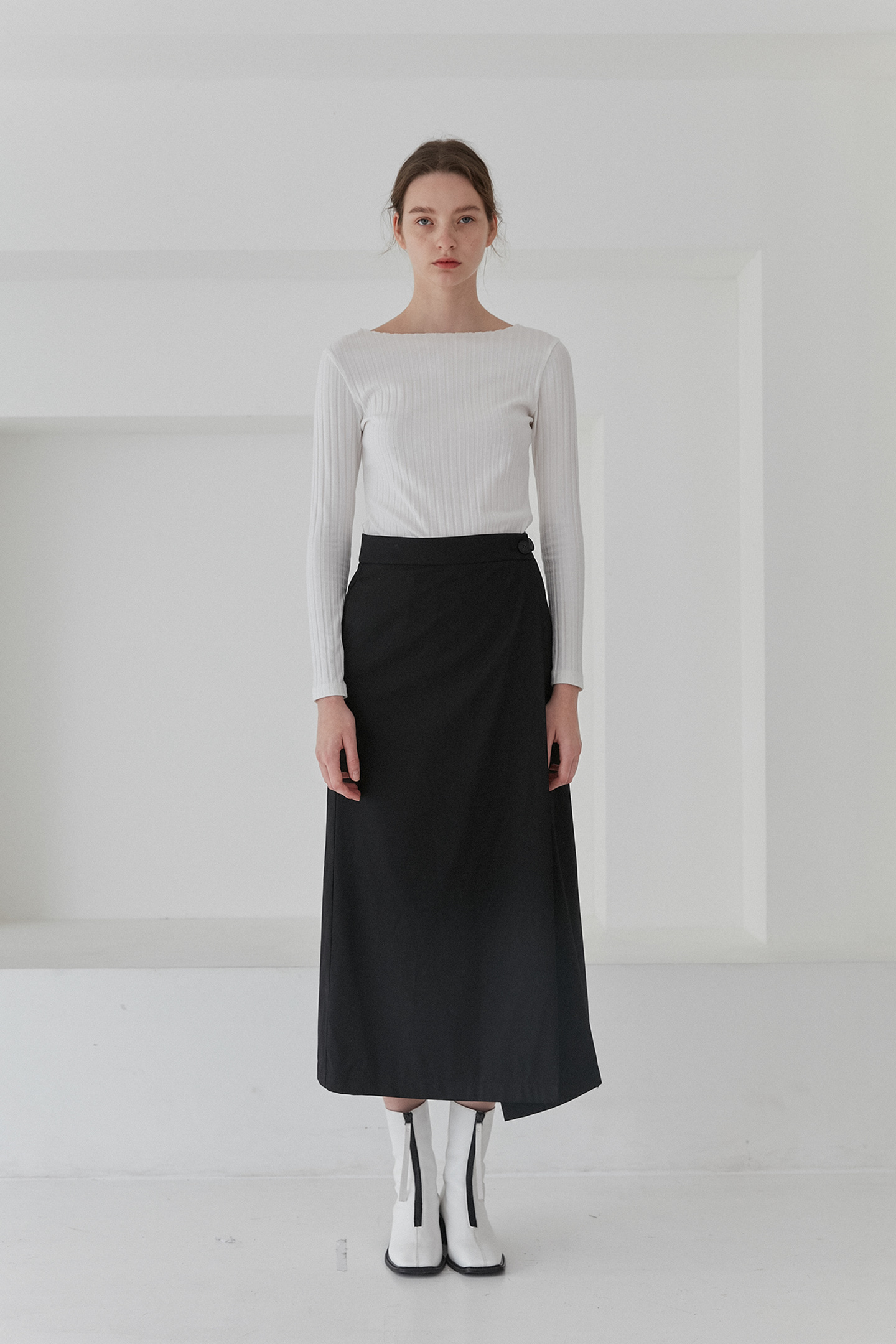 Long Wrap Skirts Women [Black]