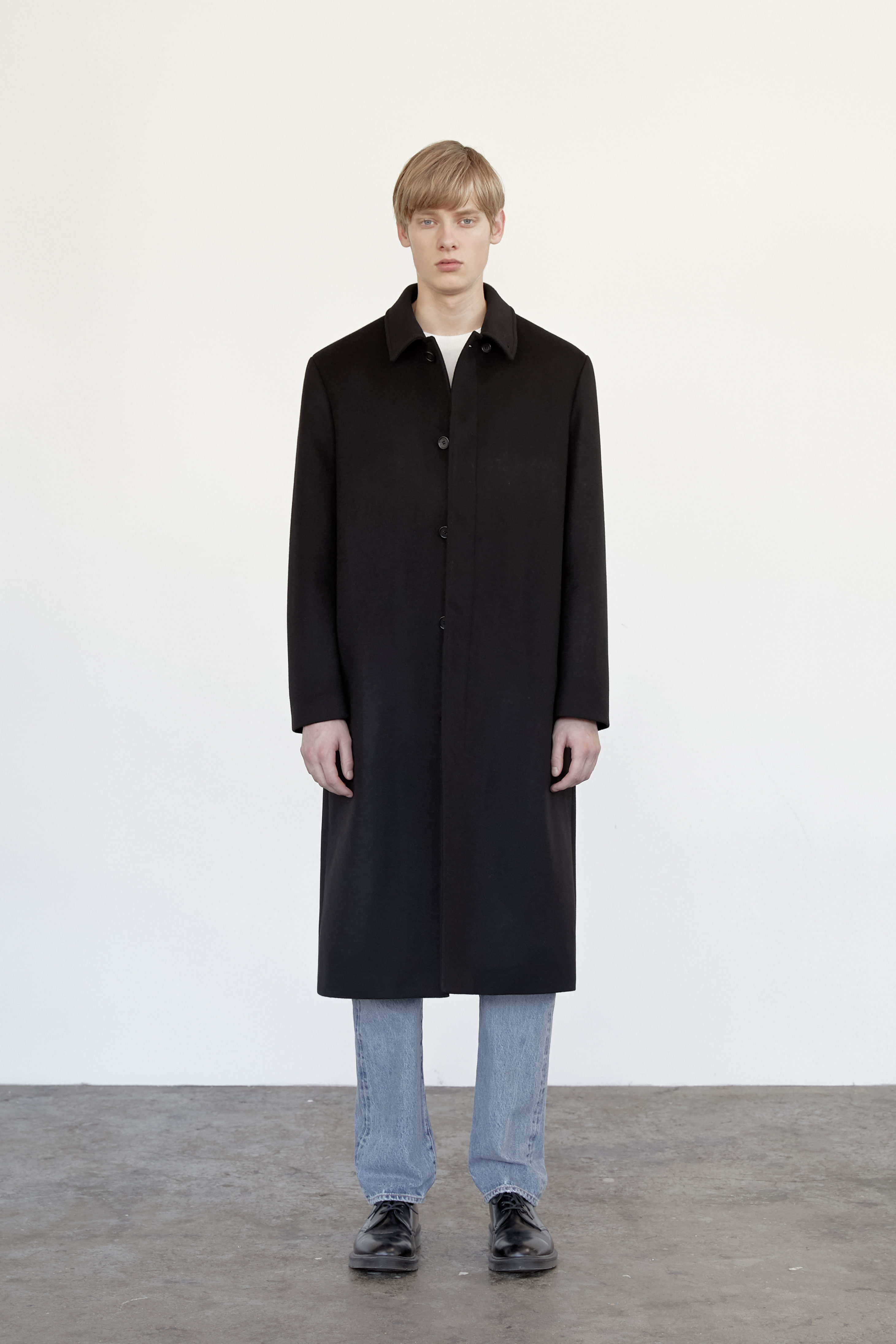 Cashmere Mac Coat Men [Black]