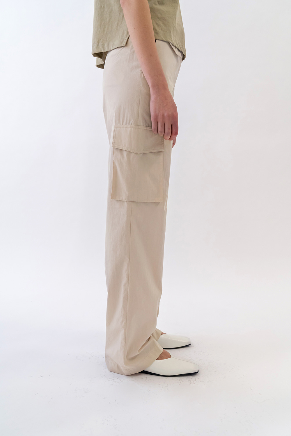 One Pocket Cargo Pants Women [Cream]